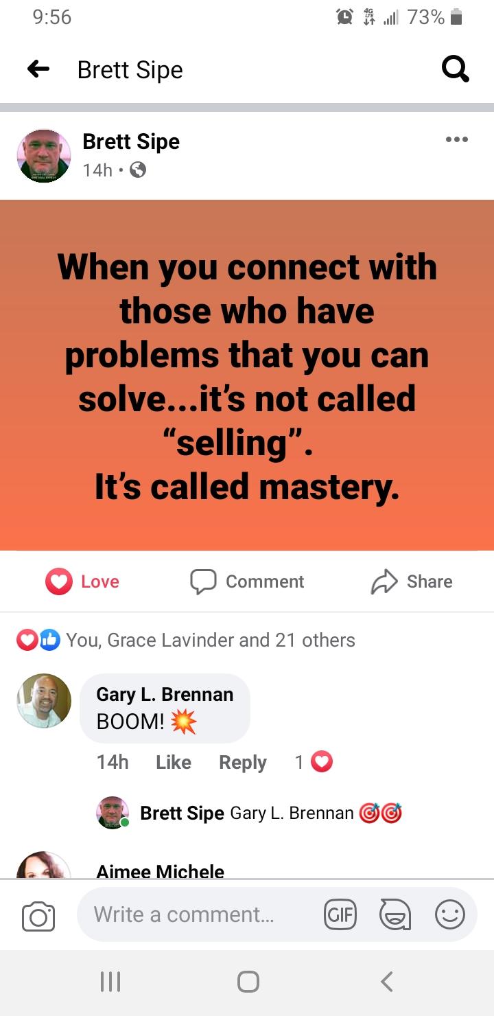 Solve Not Sell by Brett!